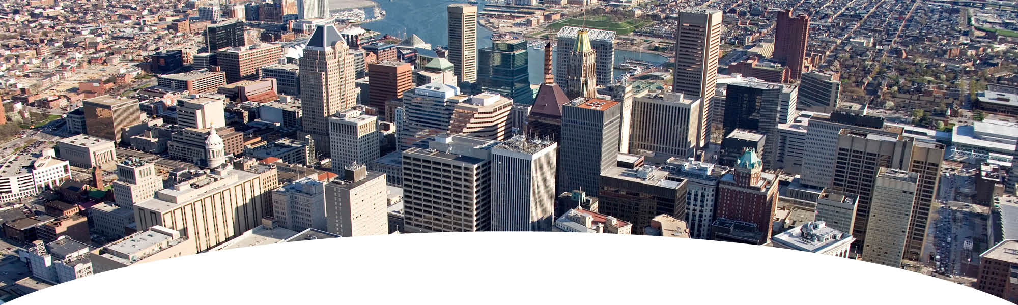 Baltimore Locations - Ariel view of downtown Baltimore