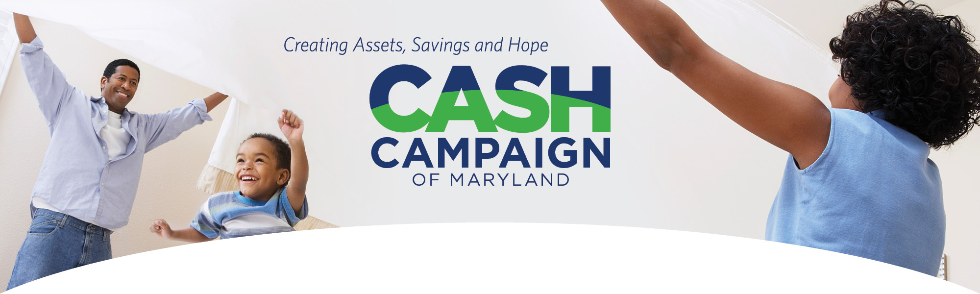 Home - CASH Campaign of Maryland - African American family cheering